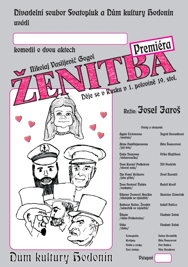 Plakát Ženitba